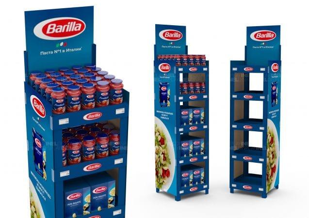 Рекламные стойки Barilla, эксклюзивные