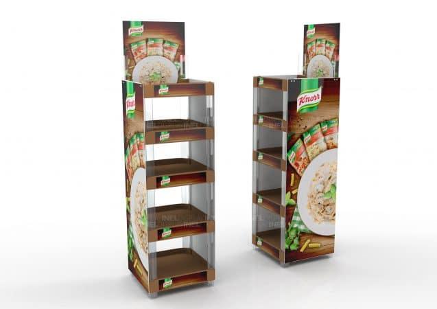 Рекламные стойки Knorr, эксклюзивные
