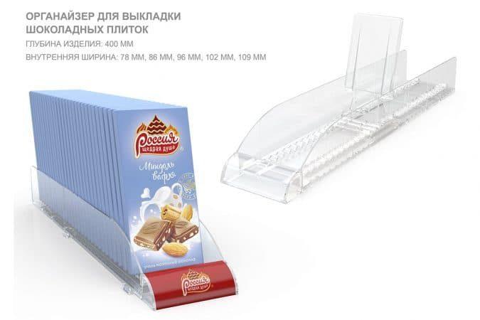 Органайзер для выкладки шоколадных плиток