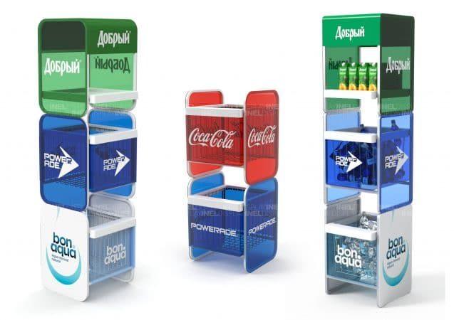 Рекламные дисплеи известных брендов, эксклюзивные
